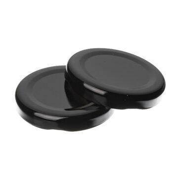 twist off caps-black