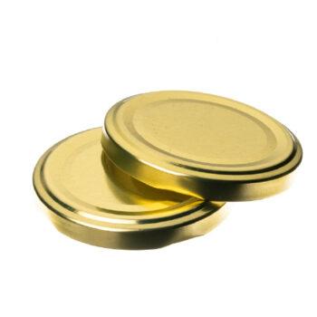 twist off caps-gold