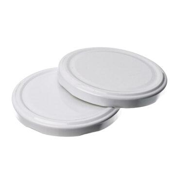 twist off caps-white